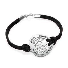 Sterling Silver Heart Family Tree Bracelet   MyNameNecklace