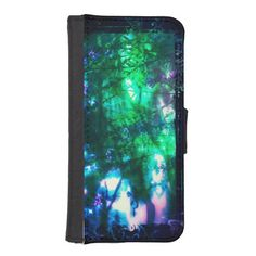 #Wildflowers #Oriental #Goth iPhone 5s Wallet Case #iphone5s #wallet #green #blue #pink #purple