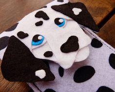 iPhone Case Dalmatian Dog - Cell Phone Cover - iPhone Sleeve - Handmade wool felt bag
