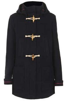 Wool Hooded Duffle Coat