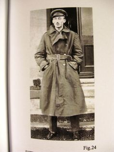 WW1 British officer trench coat- looks much like a pea coat or a Burberry trench coat.