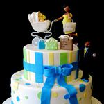 (1552) Fashionista Mommy Baby Shower Cake