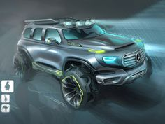Mercedes-Benz Ener G-Force Concept Design Sketch