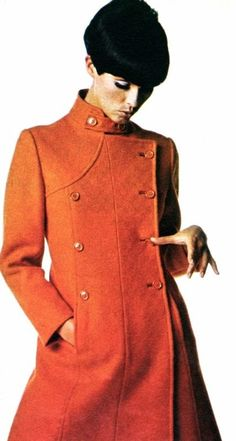 Coat fashion, photos Paul Huf, Avenue (Dutch) October 1966