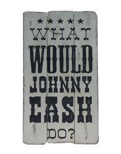 Johnny Cash Wooden Plaque | Art | Wall Decor | Products | Urban Barn. Need to get this for Chris !