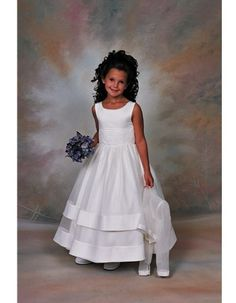 Flower Girl Dress with Long Sleeve Organza Jacket $167.99 Flower Girl Dresses