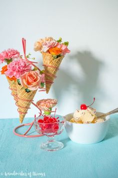 Ice Cream Social Floral Decor DIY - Handmaker of Things