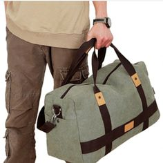 """While traveling to the gym, school, work or on a plane, this travel essential canvas duffel is ideal. This duffel is constructed of heavy-duty canvas material, which is sure to last a very long time. This bag comes with an adjustable shoulder strap for easy use and comfort, and features a quick access front slash pocket.      Removable and adjustable shoulder strap  Material:Heavy-duty canvas  Spacious interior  Approx. Size: 20"""" x 12"""" x 8""""   