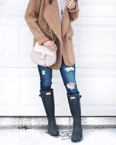 When I saw this drape front sweater coat, I thought it would be the perfect coat to wear comfortably during my winter errands! Winter Outfits, Summer Outfits, Sweater Coats, Sweaters, Sweater Jacket, Hunter Boots Outfit, Beanie, Fashion Outfits, Fasion