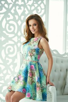 Comanda online, Rochie StarShinerS Top Look Green. Articole masurate, calitate garantata! Summer Dresses, Floral, Green, Romania, Shopping, Collection, Easter, Tops, Fashion