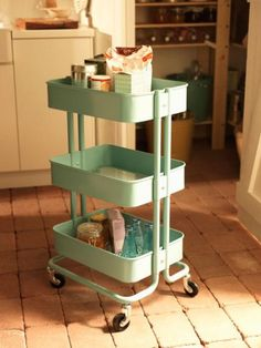 Painted IKEA trolley via IKEA Livet Hjemme blog home-inspiration