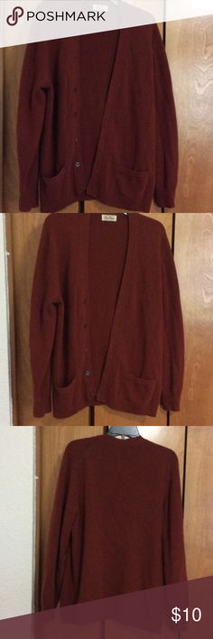 Maroon sweater Button up maroon pure cashmere sweater. Mac Allan Sweaters Cardigans