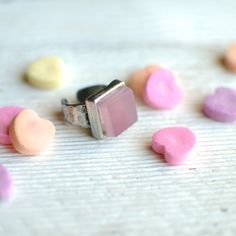 Pink Drink Ring // Recycled Pewter Band by reVetro on Etsy, $60.00