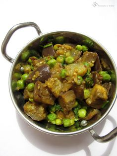 Brinjal with the peas