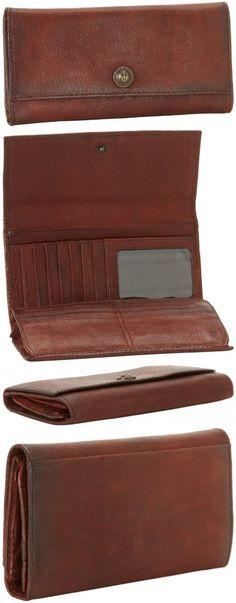 FRYE Melissa Snap Vintage Wallet,Cognac,One Size