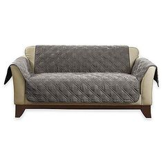 Buy Sure Fit® Deluxe Non-skid Waterproof Loveseat Cover in Graphite Decor, Furniture, Graphite, Love Seat, Home Decor, Loveseat Slipcovers, Futon, Loveseat Covers, Couch