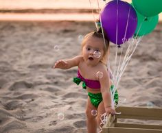 first birthday, photo, beach photography, one, mermaid, sunset, bubbles, girl, outdoor, ideas