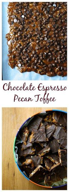 8 Ingredient, Make-Ahead Chocolate Espresso Pecan Toffee