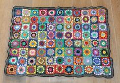 Crochet baby blanket granny square