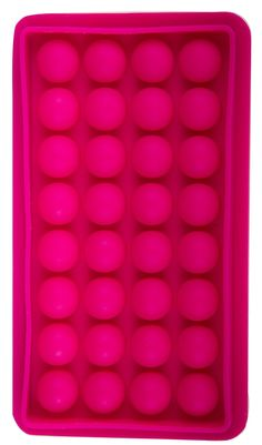 """Features:  -Material: Plastic.  -Wall mount and table stand.  -Color: Pink.  Product Type: -Ice Cube Trays.  Insulated: -Yes. Dimensions:  -2 inserts 4"""" H x 6"""" W.  -2 inserts: 4"""" H x 6"""" W.  -1 insert:"""