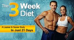 A great 3 week diet that I shall be starting exactly on New Years Day. Hope it only takes 3 weeks! It's 3 weeks to a leaner and sexier body (apparently)!