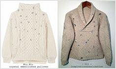 inspiration and realisation: DIY Fashion + Home: DIY Miu Miu crystal embellished pullover
