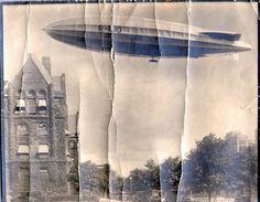 British built R100 airship over Toronto, Canada 1930