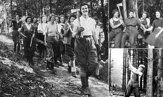 Dressed in overalls and carrying axes, the young women were recruited by the Forestry Commission to fell trees and work in sawmills during the Second World War as part of the war effort.