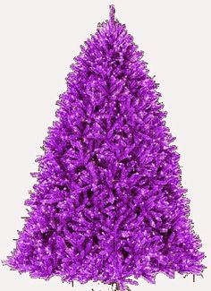 Purple Christmas tree. ~~~~Now, that's a horse of a different color!