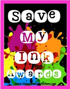 End of the Year Awards- SAVE MY INK -1/2 page black/white awards YOU CAN TYPE ON........ and, they are $1 for the time being :-)Awards!! Everyone loves getting one! I know some teachers do not want to have to print full page color awards for 30 or more kids.
