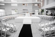 Modern Black and White Museum Wedding 71