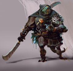 ArtStation - Lizard Witch Hunter, Mike Azevedo