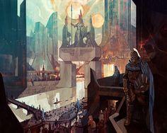 Jakub Rebelka's Cyberpunk And Fantasy Illustrations High Fantasy, Fantasy World, Fantasy Art, Cyberpunk, Comics Illustration, Fantasy Illustration, Illustration Sketches, Gaia, Dragons