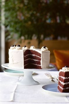 Recipe: Ina Garten's Devil's Food Cake-With a lighter-than-air coffee meringue buttercream.