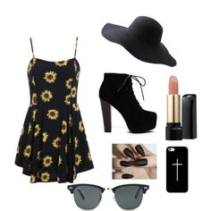 Day out by thal-1 on Polyvore featuring polyvore, fashion, style, Ray-Ban, Casetify, Peter Grimm and Lancôme