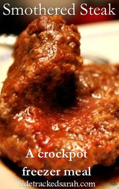 Smothered Steak - a crockpot freezer meal - all the flavor without all the hassle.