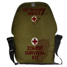 Zombie Survival Kit Messenger Bag Messenger Bag