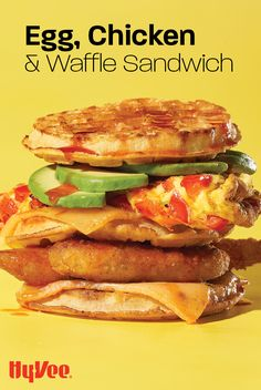 If you're looking for a light breakfast or brunch, this is not it. But, if you're looking for the ultimate comfort food breakfast sandwich, you've met your match. Savory Breakfast, Homemade Breakfast, Breakfast Recipes, Frozen Waffles, Waffle Sandwich, Chicken And Waffles, Crispy Chicken, Salted Butter, How To Cook Chicken