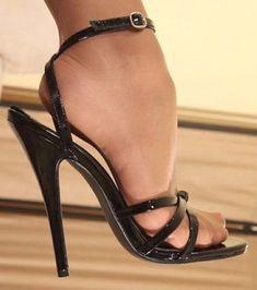 sandals with heels Sexy High Heels, High Heels Boots, Beautiful High Heels, Open Toe High Heels, Sexy Legs And Heels, Hot Heels, Ankle Strap Heels, Pantyhose Heels, Stockings Heels