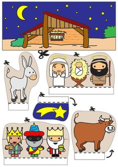 Crafting Box Box Krippe - New Ideas Nativity Clipart, Nativity Crafts, Christmas Nativity, Christmas Crafts For Kids, Christmas Activities, A Christmas Story, Xmas Crafts, Christmas Printables, Christmas Colors