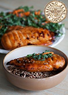 Grilled Teriyaki Chicken: Prep Time: 15 Minutes, Plus 30 Minutes Colling, and 6-8 Hours Marinating Cook Time: 35-39 Minutes  Makes: 4 Servings