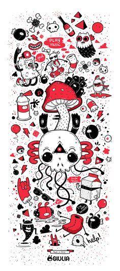 Calavera by Giulia Marchetti, via Behance
