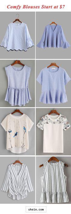880023aaf Comfy blouses start at  7! Blusas Listradas