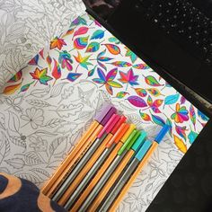 Take a peek at this great artwork on Johanna Basford's Colouring Gallery! Secret Garden Coloring Book, Coloring Book Art, Doodle Coloring, Adult Coloring, Coloring Pages, Coloring Tips, Mandala Coloring, Coloring Sheets, Colored Pencil Tutorial