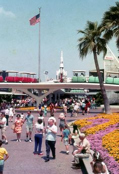 Disneyland's Tomorrowland in 1967.