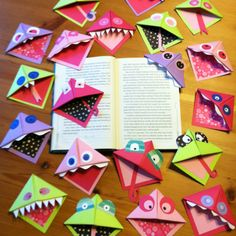 Bookmarks!!! By Ang & Mom :). ...inspired by a pin on my language arts board