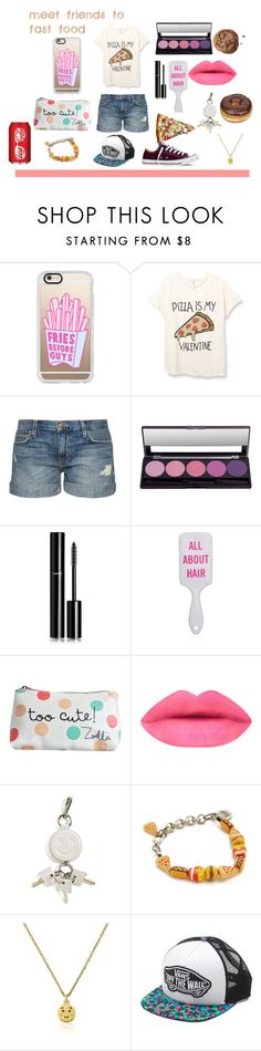 """""""Meeting to fastfood"""" by prettydollblack on Polyvore featuring mode, Casetify, Current/Elliott, Chanel, Alexander Wang, Venessa Arizaga, Vans, Converse, women's clothing et women"""