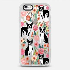 Boston Terriers Flowers cute boston terrier florals vintage flowers trendy cell phone case for boston terrier owners - New Standard Case