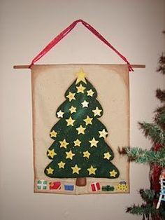 Canvas Christmas Tree Advent Calendar