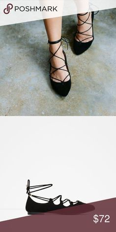 NWT Zara ghillie flats Brand new trendy Zara ghillie flats, seen on Hollywood stars. These are a size 38 fits a 7.5 to 8 best Zara Shoes Flats & Loafers
